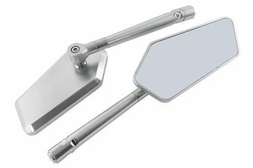 espelho retrovisor esportivo prata circuit honda cb 1000r