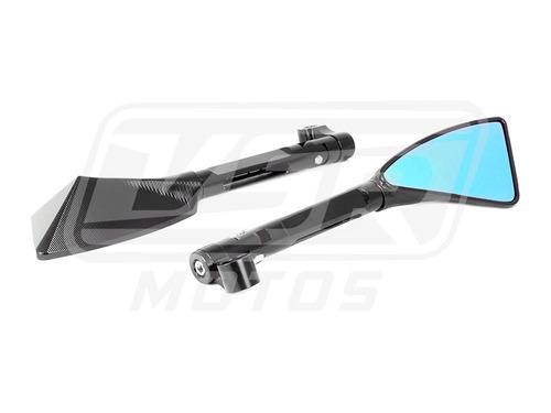 espelho retrovisor esportivo preto rizoma crosser 150 réplic