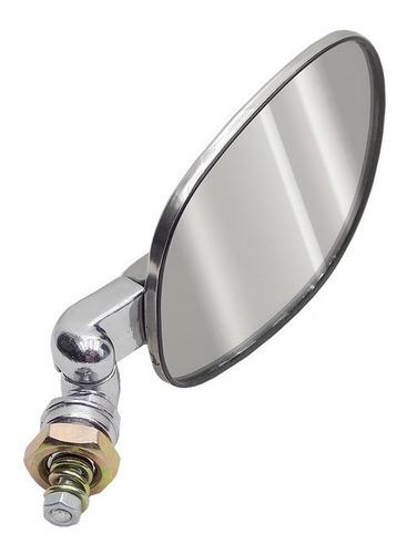 espelho retrovisor fusca modelo original em inox esquerdo