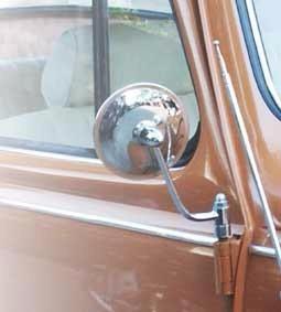 espelho retrovisor redondo fusca europeu (par) empi