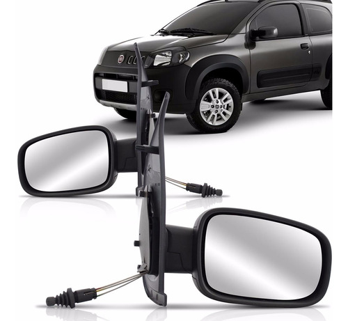 espelho retrovisor uno 10 11 2012 2 portas controle interno