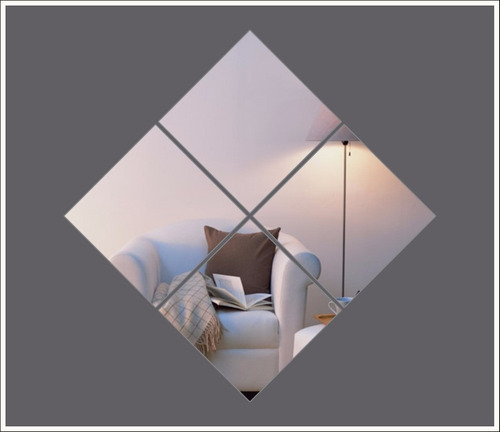 espelhos decorativos 14 quadrados para sala ou quarto