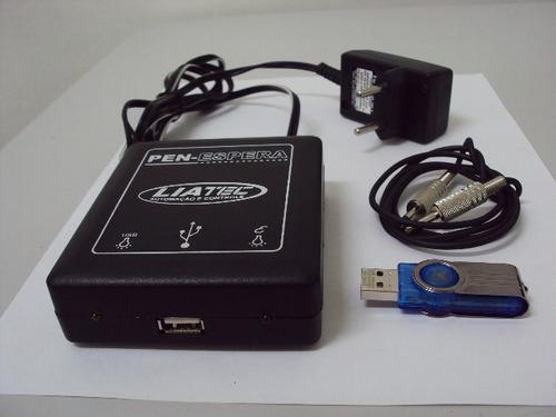 espera telefônica digital com pen drive