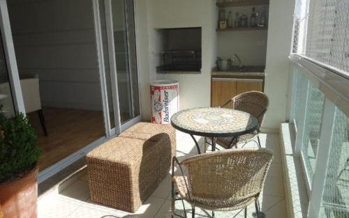 espetacular apartamento com  bellíssima varanda gourmet para locação, panamby, são paulo.