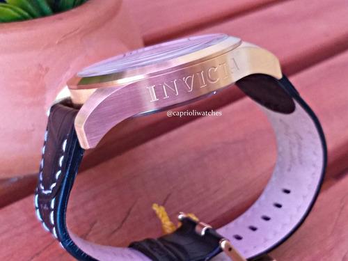 espetacular relógio invicta specialty 12172 gold 18k top
