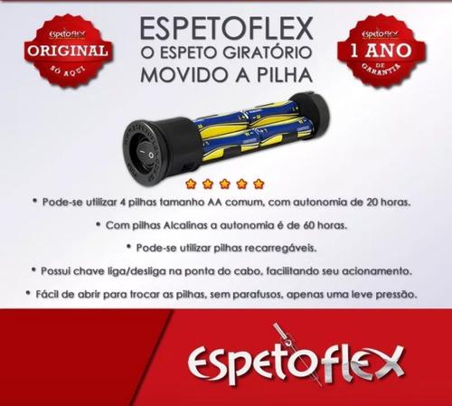 espeto giratório a pilha + garra longa - original espetoflex