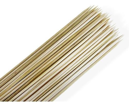 espetos de bambu para churrasco carne 28 cm - 990 unid.