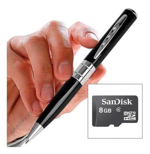 espiã caneta filmadora câmera hd 1280 x 960 c/ 8gb memoria