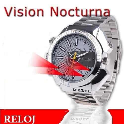 espia reloj vision nocturna memoria 8gb sumergible camara pc
