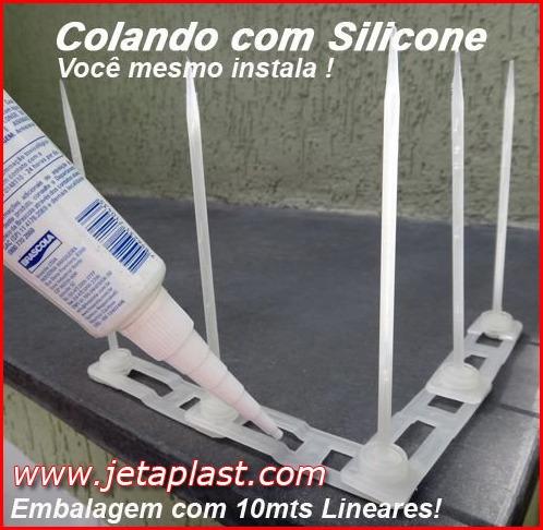 espiculas anti pombos toda plástica kit 20 metros lineares