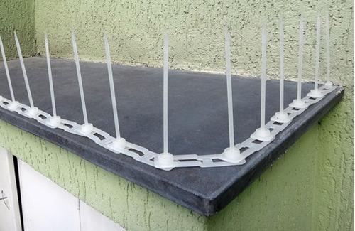 espiculas espanta anti repelir contra pombos kit 10 metros