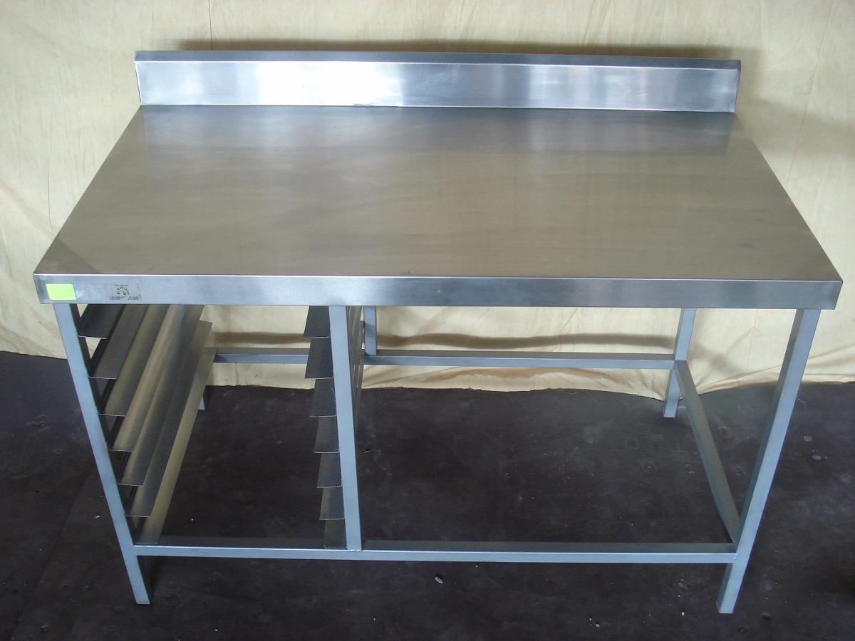 Espiguero con mesa de trabajo acero inox rejanox codigo for Mesa de trabajo precio