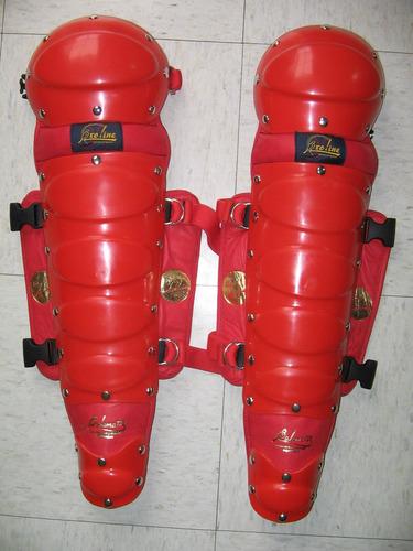 espinilleras catcher rojos juvenil arreos