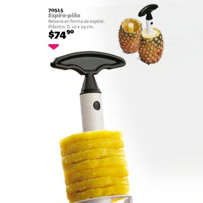 24 cm Cortador de pi/ña de pl/ástico