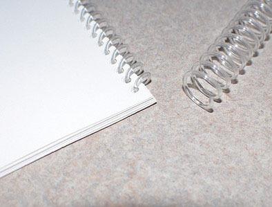 espirais para encadernacao transparente 9mm - 50 folhas