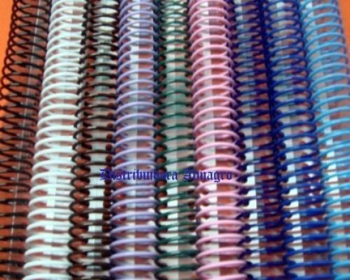 espiral p/encuadernar combo nº 9,12,17,23,29,45  1 paq..c/u,
