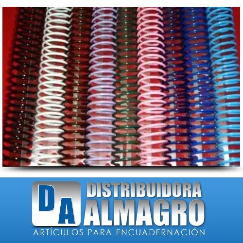 espiral plastico para encuadernacion nº 20 pte. x 50 unid.