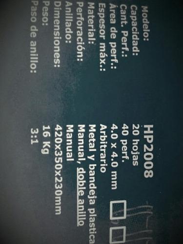 espiraladora doble anillo doble oo ring hp2006 -2008 manual