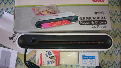 espiraladora + rodiilo electrico+ guillotina + plastifcadora