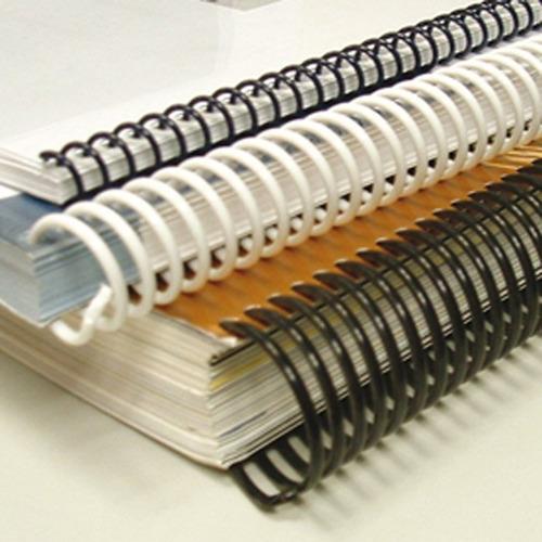 espirales plasticos rafer p/encuadernacion 17mm x 50 unid.