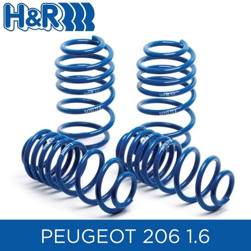 espirales progresivos h&r super sport- peugeot 206 1.6