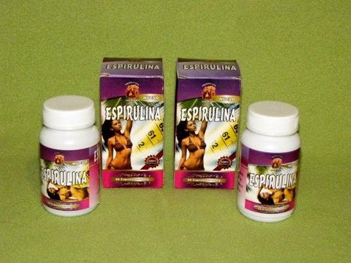 espirulina en capsulas, 300 mg, 2 frascos