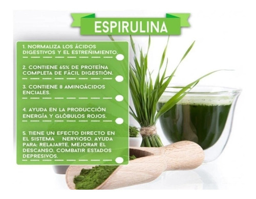 espirulina orgánica la purisima 180 cápsulas