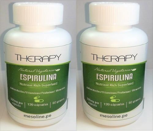 espirulina  therapy 500mg 2 frascos