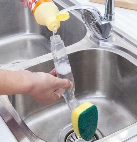 esponja de cocina con mango detergente recargable rxl