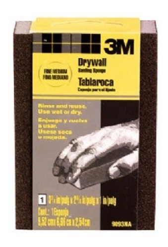 esponja de lijado 3m 9093dcna smallwall drywall 375 pulgadas