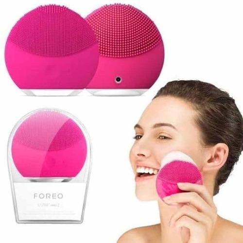 esponja elétrica massagem limpeza rosto recarregável