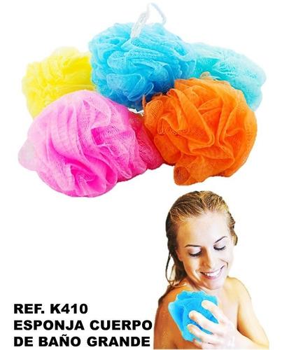 esponja exfoliadora  baño spa regalo plástica pompones color