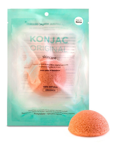 esponja facial konjac natural de fibra vegetal apto veganos