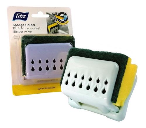esponja para lavar platos con soporte