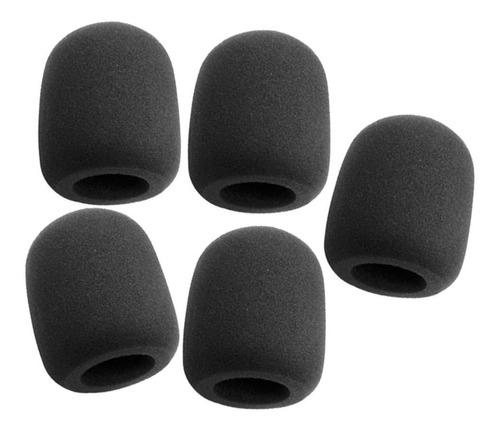 esponja para micrófono negra x5 wind screen esponjas
