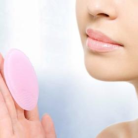 Esponja Silicone Limpeza De Rosto Facial A Pronta Entrega