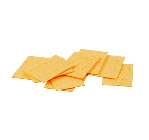 esponja vegetal kaisi para ferro soldar 54x35x5mm c/10 peças
