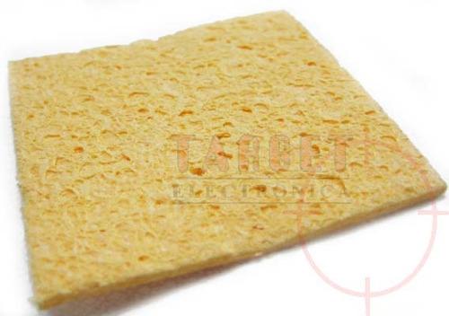 esponja vegetal limpia soldador resisten al calor 5x5.2cm