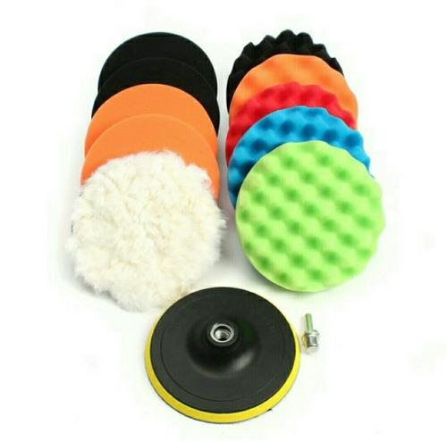 esponjas 5 pulgadas pads pulir encerar auto taladro pulidora