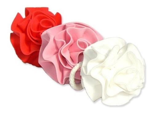 esponjas con forma de rosa - set x12