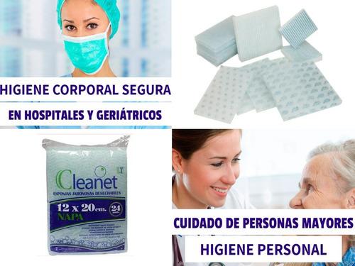 esponjas para baño en cama / higiene corporal / emergencias