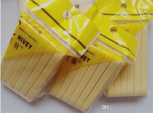 esponjas  para limpieza faciales - 12 unidades + obsequio