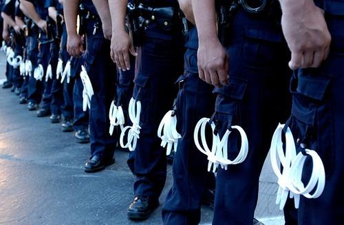 esposas policiacas de plástico de alta resistencia, amarres