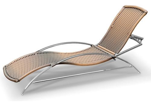 espreguiçadeira cadeira em alumínio e fibra sintética