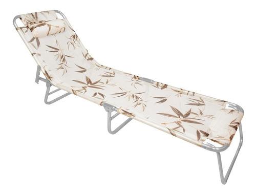 espreguiçadeira com alça zaka slim alumínio até 100 kg bambu