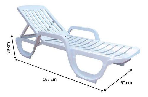 espreguiçadeira com rodas antares branca