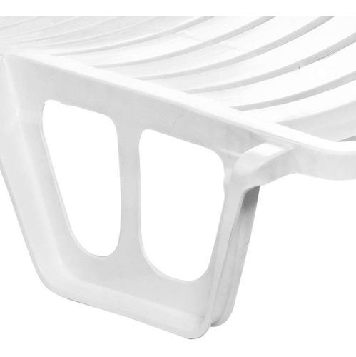 espreguiçadeira conforto 5 posições branca dolfin