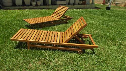 espreguiçadeira de madeira de demolição  ( frete grátis )