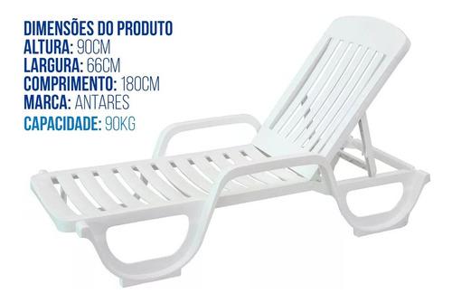 espreguiçadeira plástico branca para piscinas pvc