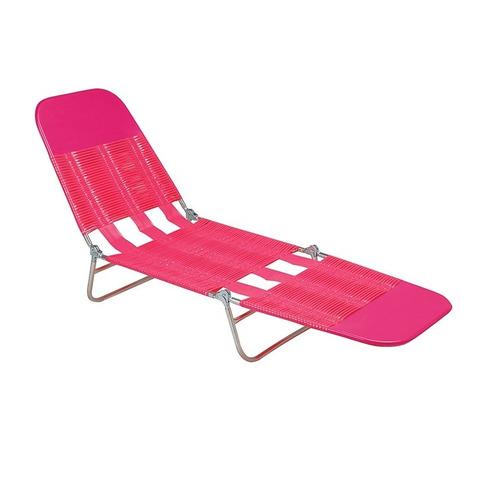 espreguiçadeira pvc rosa - mor verão